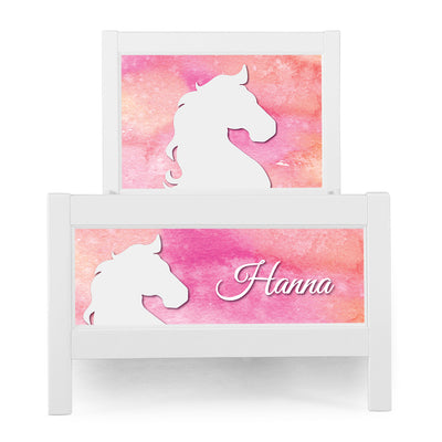 P'kolino Nesto Twin Bed - White - Pony Theme
