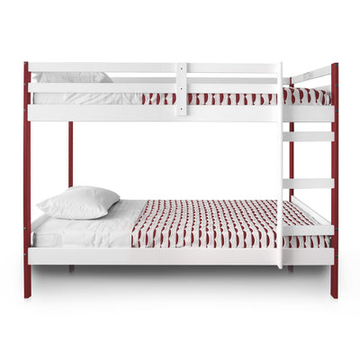 Letto Bunk Beds - Red and White