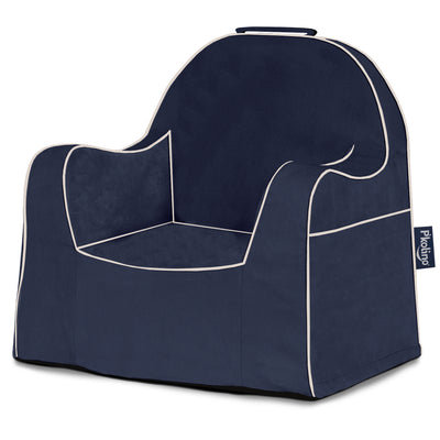 Little Reader Chair - Navy with White Piping