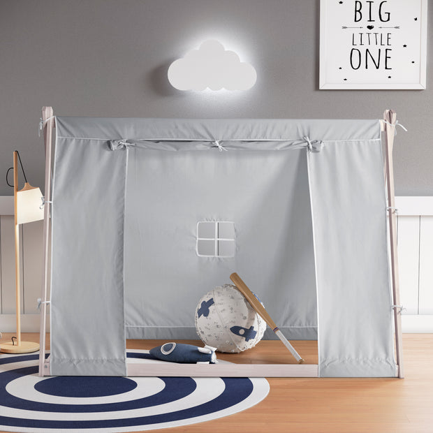 Kid's Tent Twin Bed – Grey
