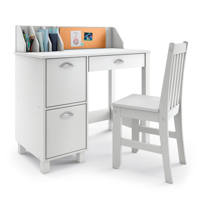 P'kolino Kids Desk and Chair - White