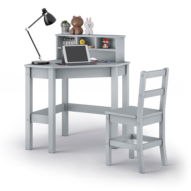 P'kolino Kids Corner Desk and Chair - Grey