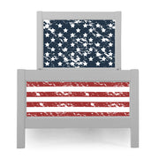 P'kolino Nesto Twin Bed - Grey - Patriot Theme