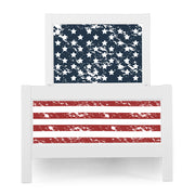 P'kolino Nesto Twin Bed - White - Patriot Theme