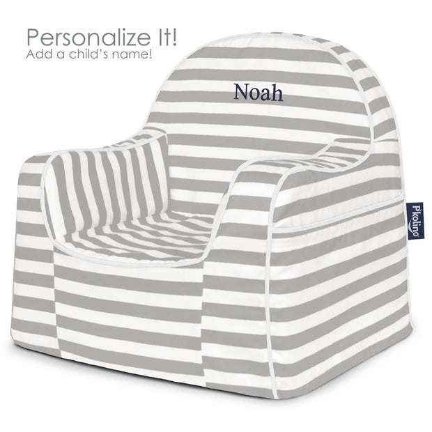 Little Reader Toddler Chair  Stripes Grey