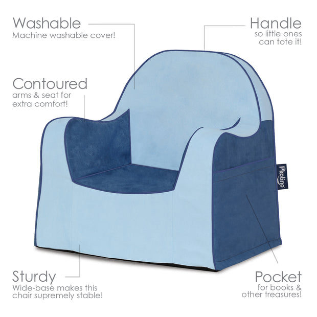 Little Reader Toddler Chair Two Tone Blue
