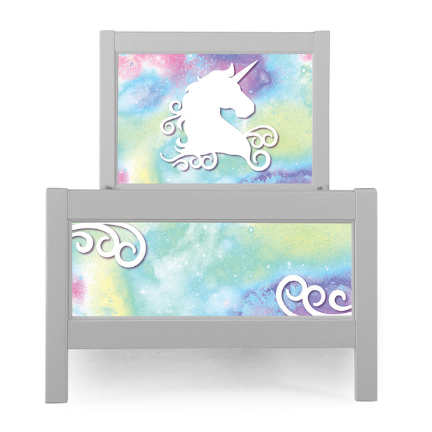 P'kolino Nesto Twin Bed - Grey - Unicorn Theme