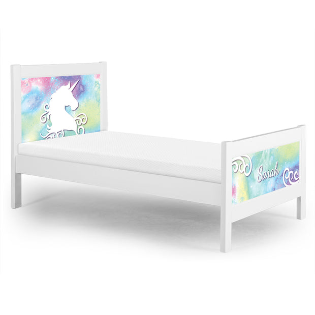 P'kolino Nesto Twin Bed - White - Unicorn Theme