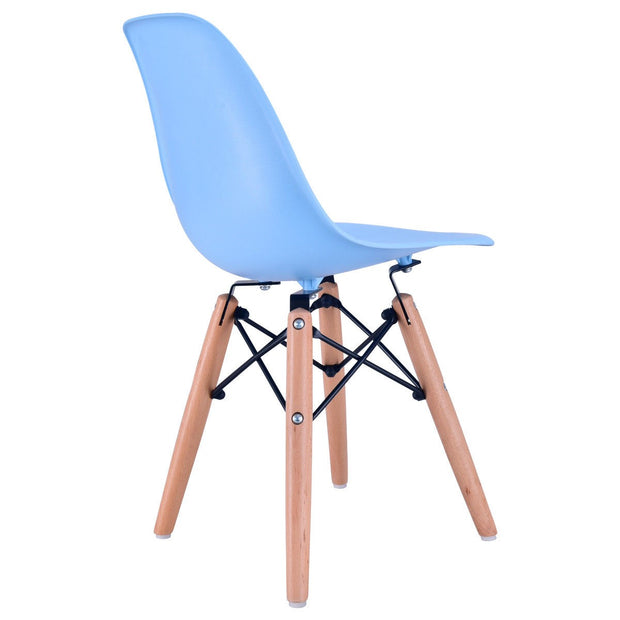 Criss Cross Modern Kids Chair - Blue