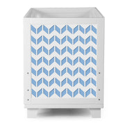 Nesto Convertible Crib - Chevron - Blue