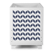 Nesto Convertible Crib - Chevron Navy