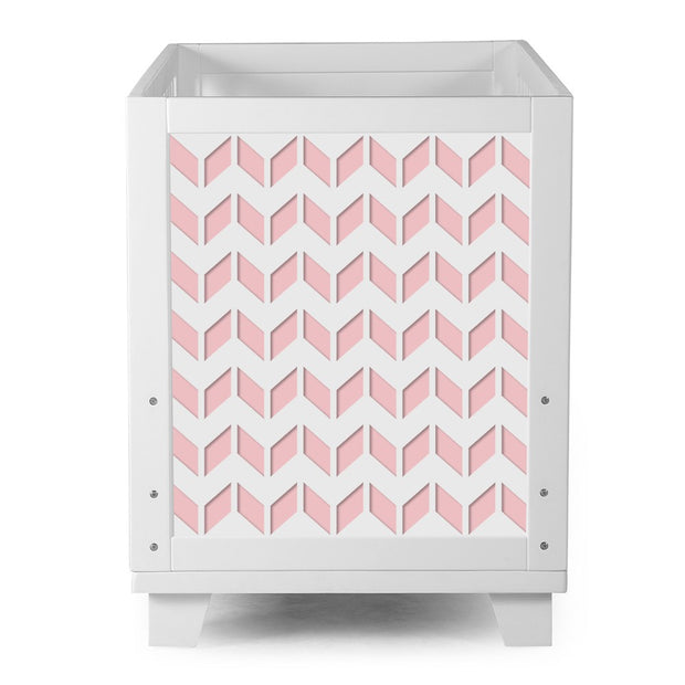 Nesto Convertible Crib - Chevron Pink