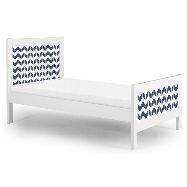 P'kolino Nesto Twin Bed - White - Chevron