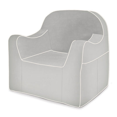 Reader Children's Chair - Grey with White Piping