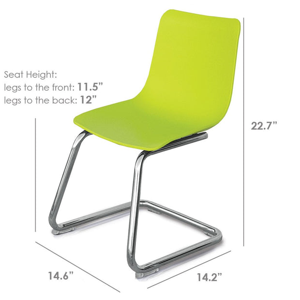 Dimensions: P'kolino Modern Kids Chair - Yellow Green