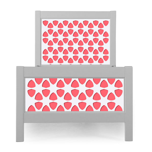 P'kolino Nesto Twin Bed - Grey - Pezzo in Coral