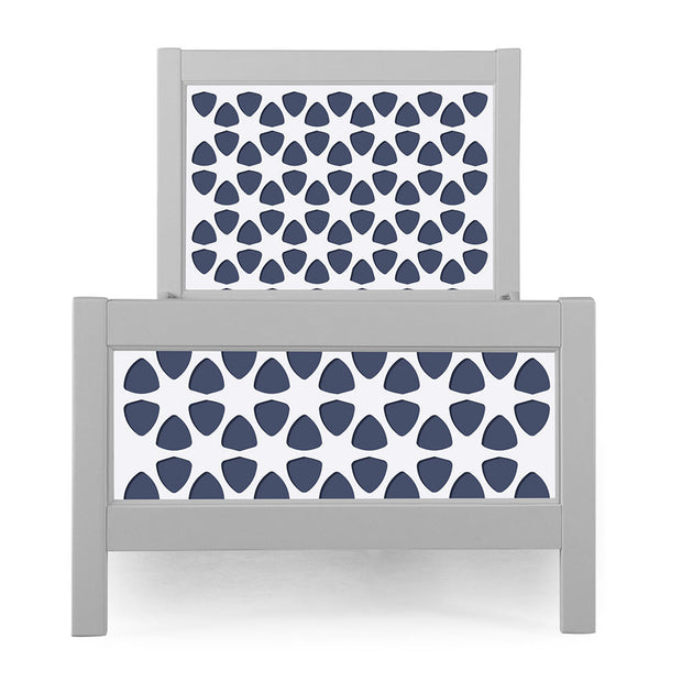 P'kolino Nesto Twin Bed - Grey - Pezzo in Navy