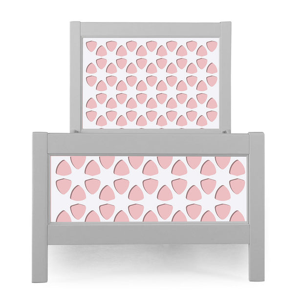 P'kolino Nesto Twin Bed - Grey - Pezzo in Pink