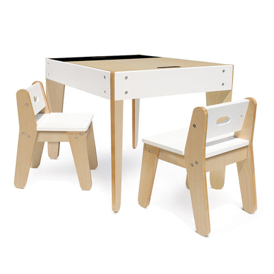 Little Modern Table and Chairs - White