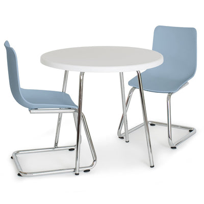 P'kolino Modern Kids Round Table and Chairs - Blue