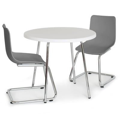 P'kolino Modern Kids Round Table and Chairs- Grey