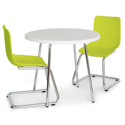 P'kolino Modern Kids Round Table and Chairs - Green