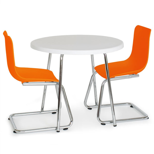 P'kolino Modern Kids Round Table and Chairs - Orange
