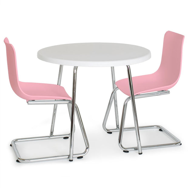 P'kolino Modern Kids Round Table and Chairs - Pink