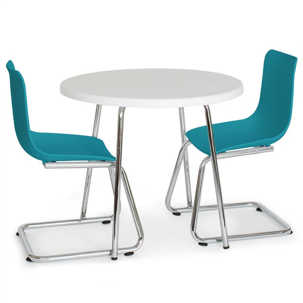 P'kolino Modern Kids Round Table and Chairs - Turquoise