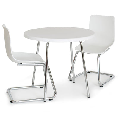 P'kolino Modern Kids Round Table and Chairs - White