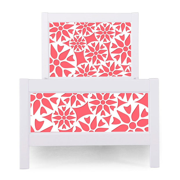 P'kolino Nesto Twin Bed - White - Prima in Coral