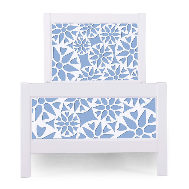 P'kolino Nesto Twin Bed - White - Prima in Light Blue