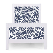 P'kolino Nesto Twin Bed - White - Prima in Navy