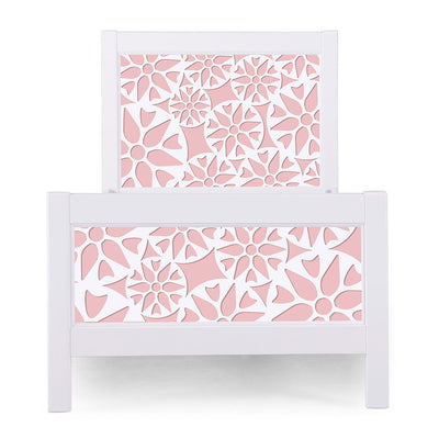 P'kolino Nesto Twin Bed - White - Prima in Pink