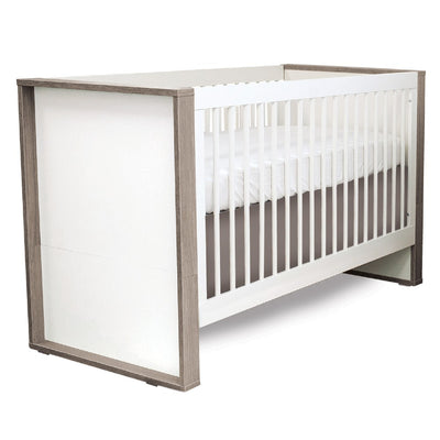 Grigio Convertible Crib - White and Grey