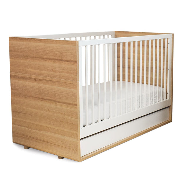 Luce Convertible Crib - Natural and White