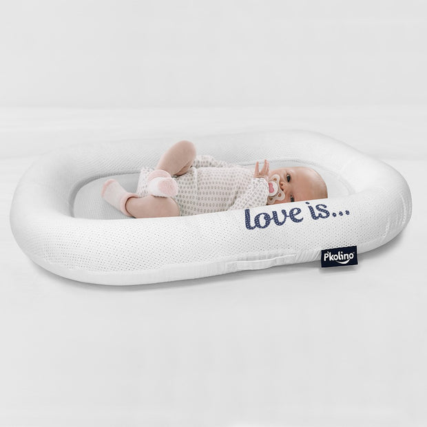 Nuzzle Baby Lounger with AiraTex -  Love is - Blue