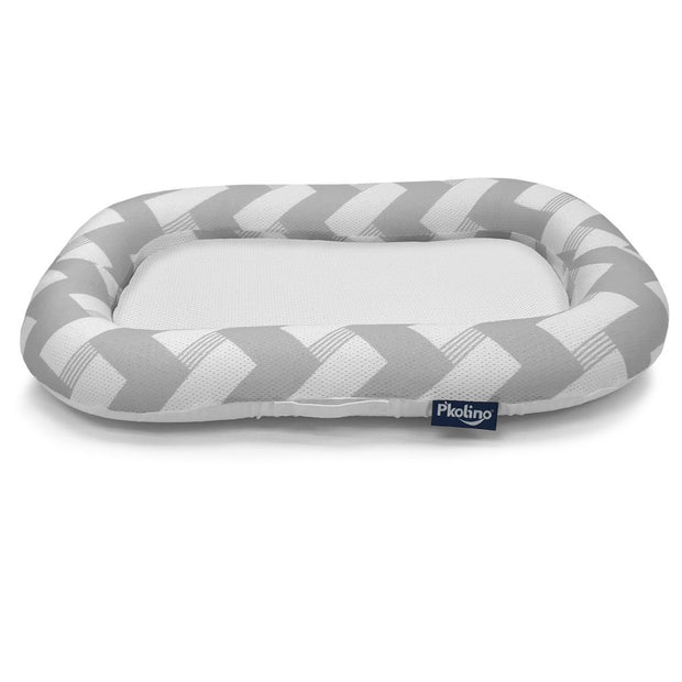 P'kolino Nuzzle Baby Lounger with AiraTex -  Chevron Grey
