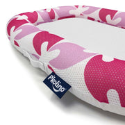 P'kolino Nuzzle Baby Lounger with AiraTex -  Pink Leaves