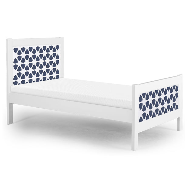 P'kolino Nesto Twin Bed - White - Pezzo in Navy