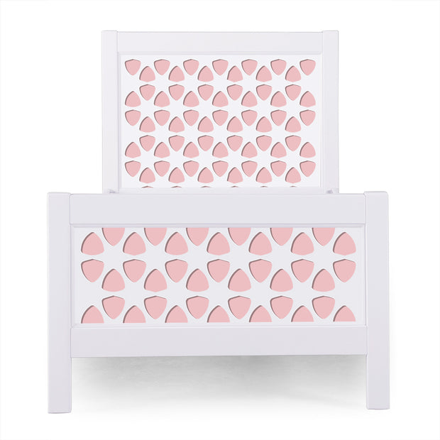 P'kolino Nesto Twin Bed - White - Pezzo in Pink