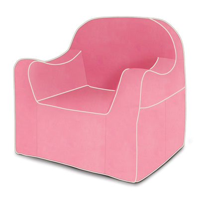 Reader Children's Chair - Pink with White Piping