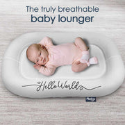 P'kolino Nuzzle Baby Lounger with AiraTex -  Hello World with Baby