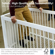Luce Convertible Crib - Safety Features