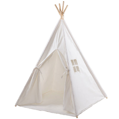 5' Portable Children's Teepee Tent - White