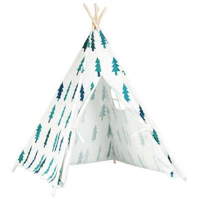 5'5 Portable Children's Teepee Tent - White & Green