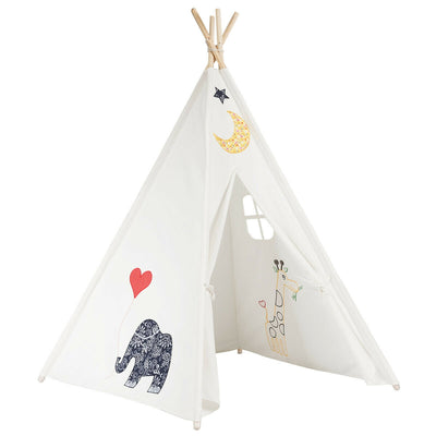 5'5 Portable Children's Teepee Tent - Animals