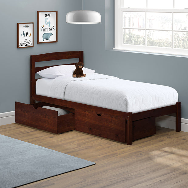P'kolino Twin Bed with Storage Drawers