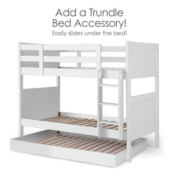 Add Trundle bed to the P'kolino Nesto Bunk Bed - White