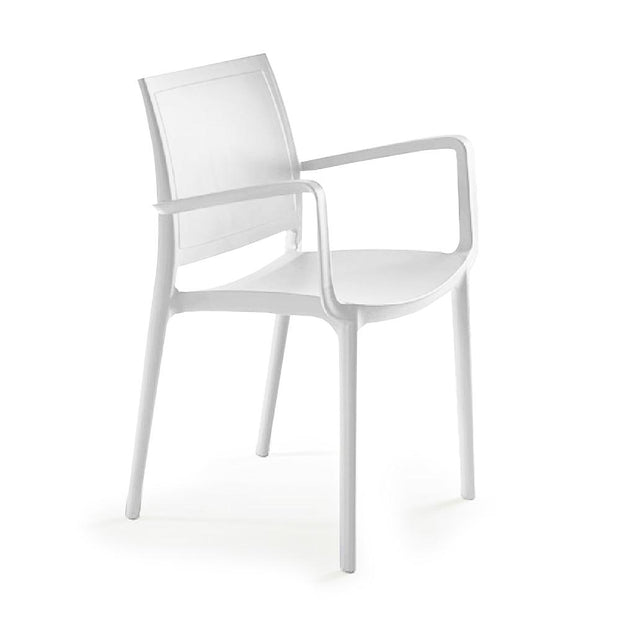 P'kolino Luna Modern Chair with Arms - White